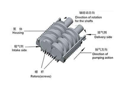 螺杆式真空泵抽气原理图